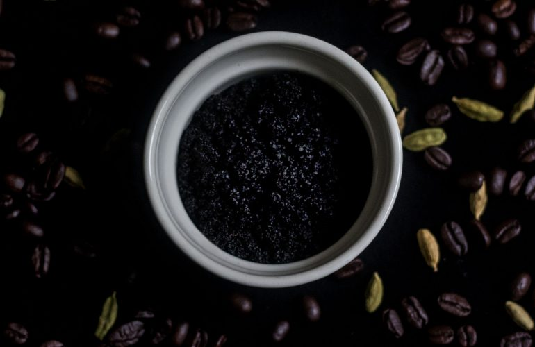 coffee and cardamom body scrub